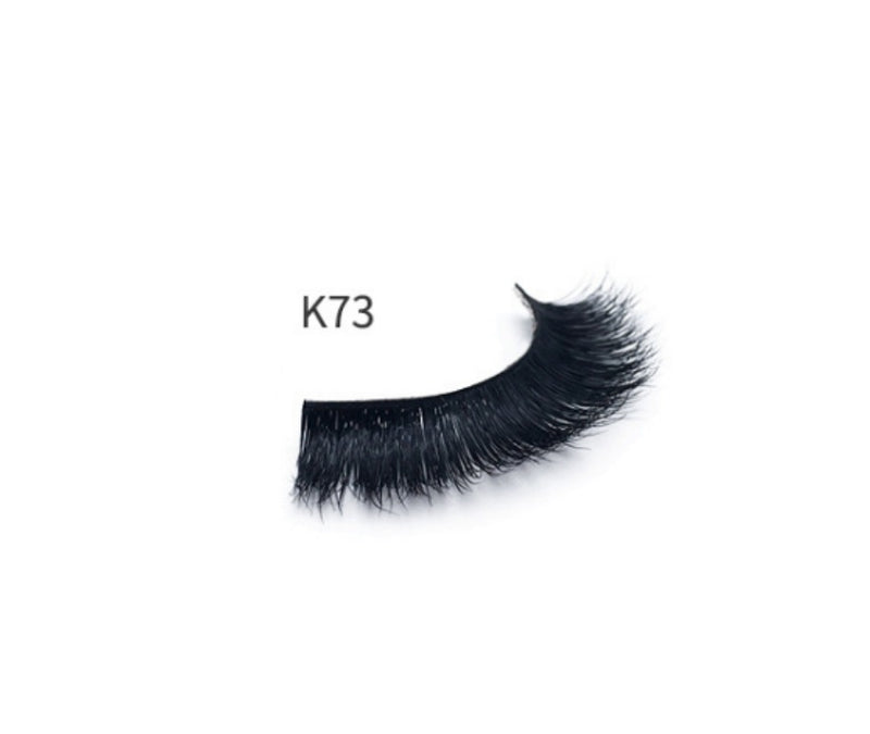 3D Synthetic Lashes w/Clear Band - MQO 12 pcs