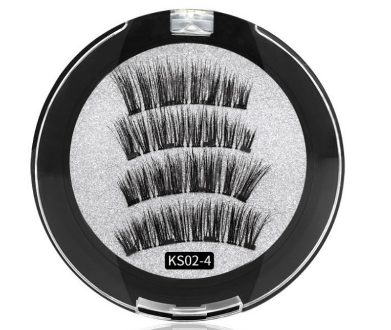 Magnetic Eyelashes w/4 Magnets #KS02-4  MQO 12 pcs