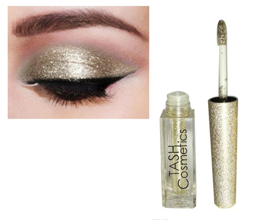 Glitter and glow with our Liquid Diamond Glitter Shadow. This liquid eyeshadow is a Lightweight, zero-fallout formula, dries to a smudge-proof, crease-proof finish that lasts and lasts. Can be worn on top of eyeshadow or over bare lids, cheeks and body. Anywhere you want that little extra WOW! Infused with the perfect blend of pearl and glitter to leave your eyes with incredible luster and shimmer. It's uniquely lightweight, water-infused texture, it glides on effortlessly, then dries down smoothly, locking