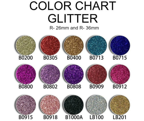 RG Single Pan Glitter Eyeshadow Pans - 26 and 36mm
