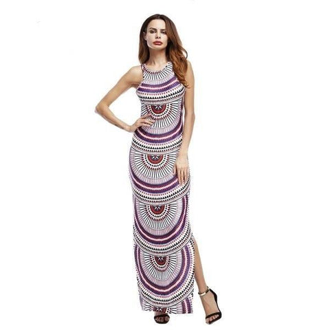 African Print Maxi Dress-Angel Doce