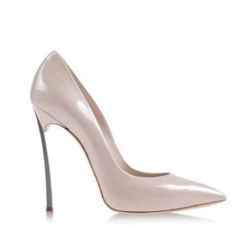 Pearl Pointed Toe High Heel Pumps-Angel Doce