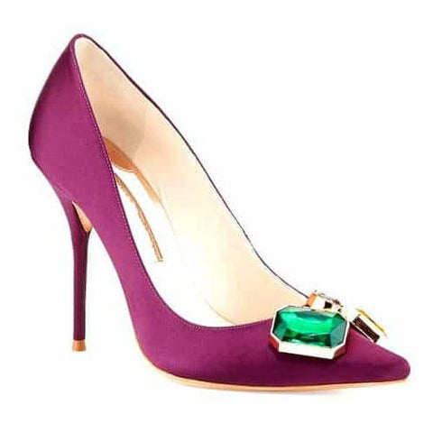 Purple Pointed Toe Stiletto Heel Pumps-Angel Doce