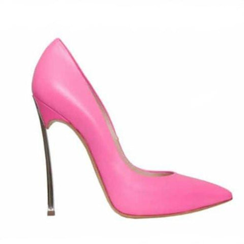 Rose Pink Pointed Toe High Heel Pumps-Angel Doce