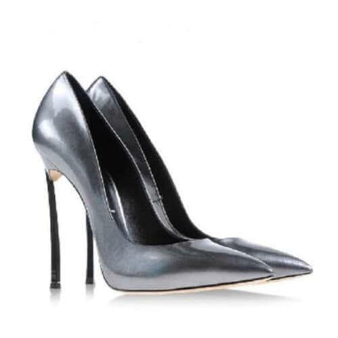 Tin Pointed Toe High Heel Pumps-Angel Doce