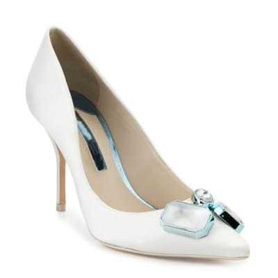 White Pointed Toe Stiletto Heel Pumps-Angel Doce