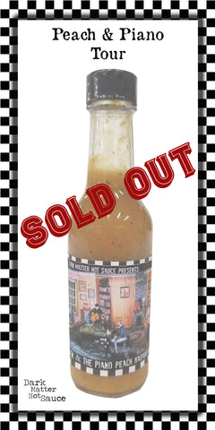 Peach and The Piano Tour Peach Habanero Hot Sauce - SOLD OUT!
