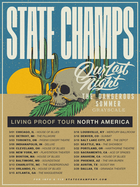 State Champs and The Dangerous Summer Tour Combo