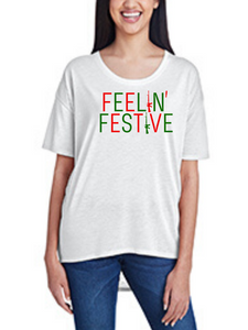 Feelin' Festive, Women's Hi-Lo Freedom Shirt
