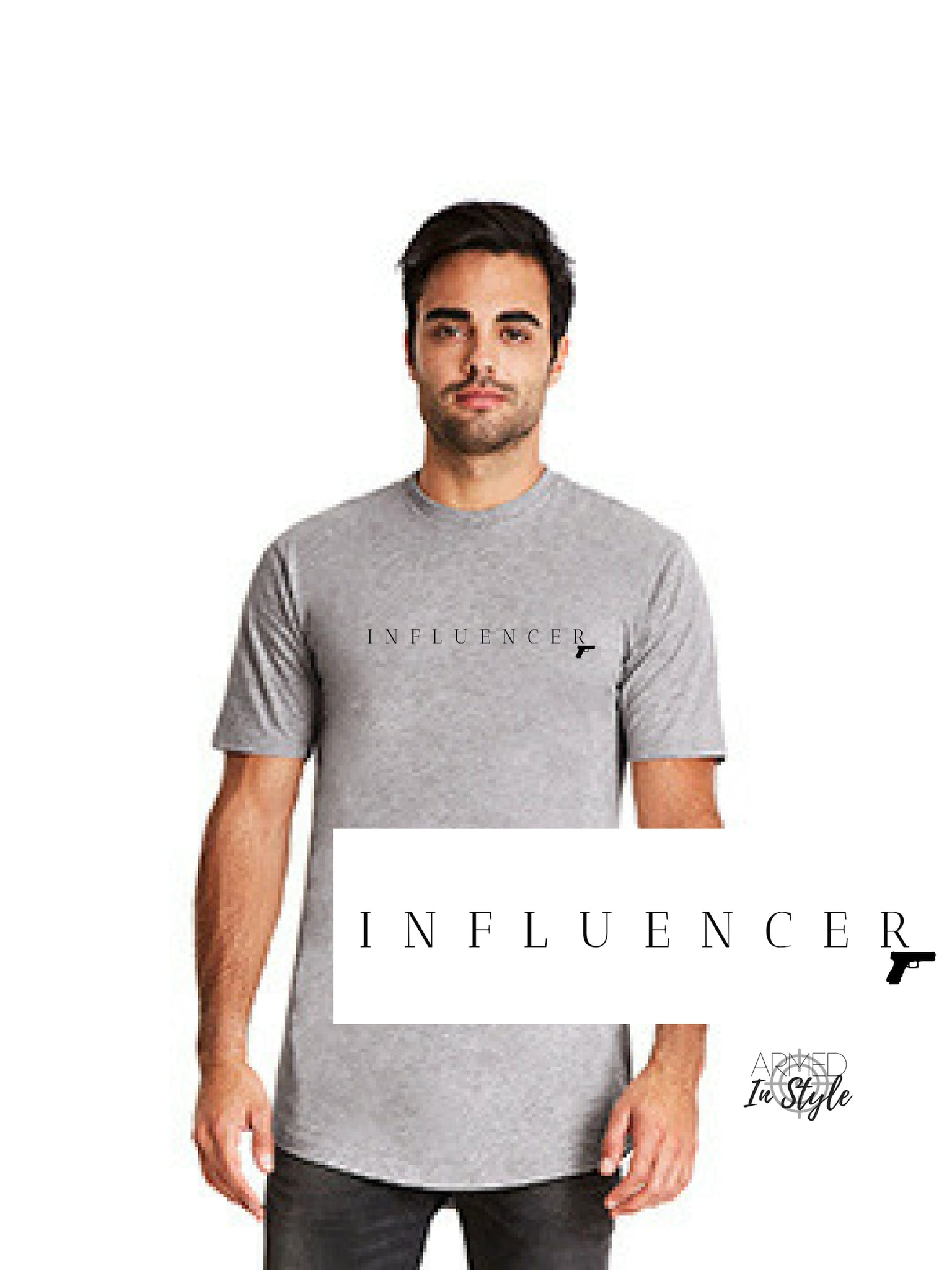 Influencer Pistol, Men's Urban T-Shirt