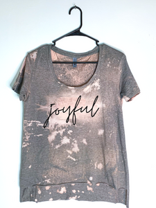 Joyful Bleach Dyed, Women's Hi-Lo T-Shirt