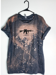 AR-15 Bleach Dyed T-Shirt