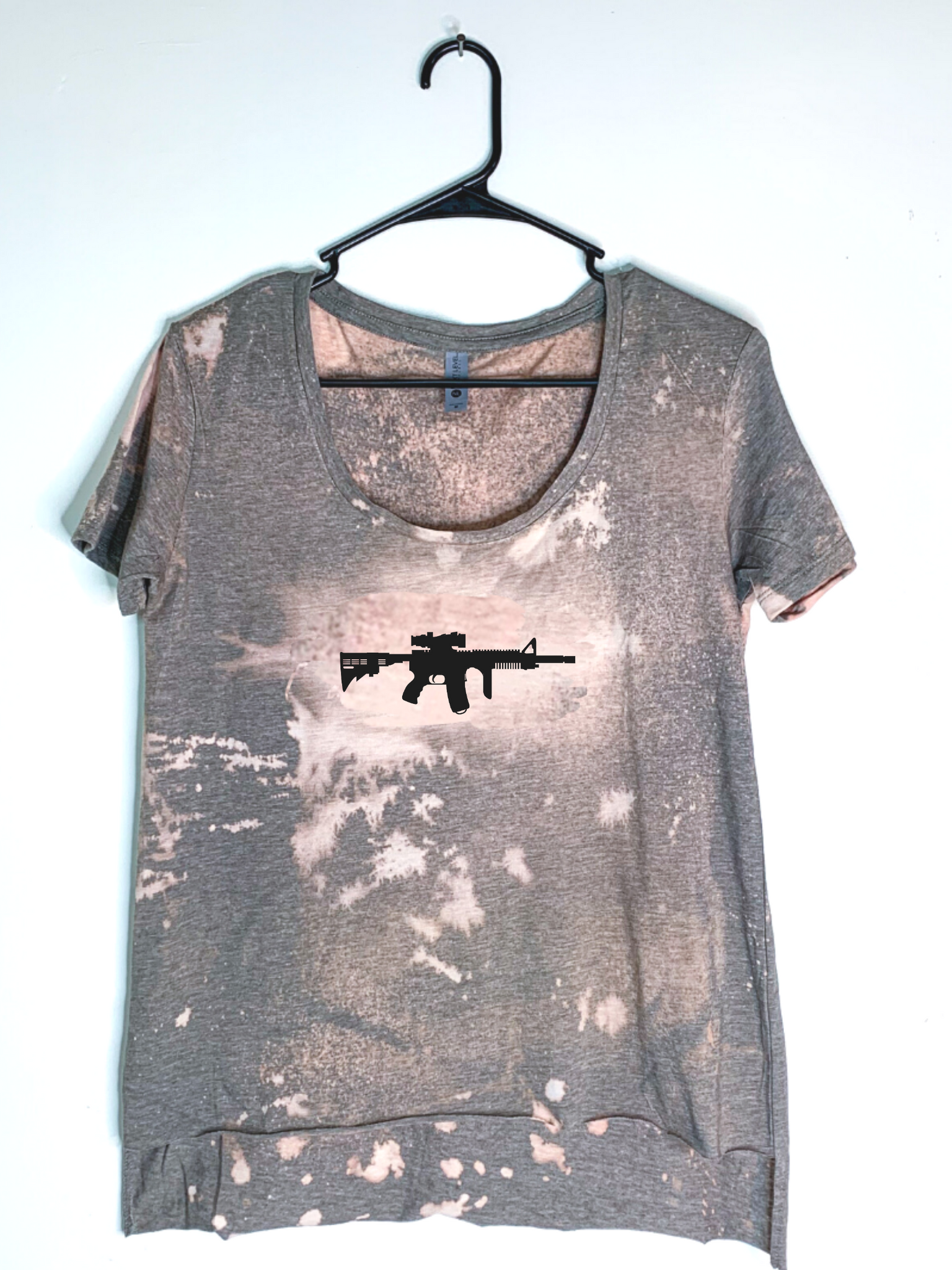 AR-15, Bleach Dyed Women's Hi-Lo T-Shirt