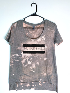 2A Female, Bleach Dyed Women's Hi-Lo T-Shirt