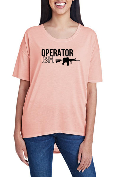 OperatorISH, Women's Hi-Lo Freedom Shirt