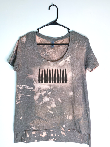 Bandolier, Bleach Dyed Women's Hi-Lo T-Shirt