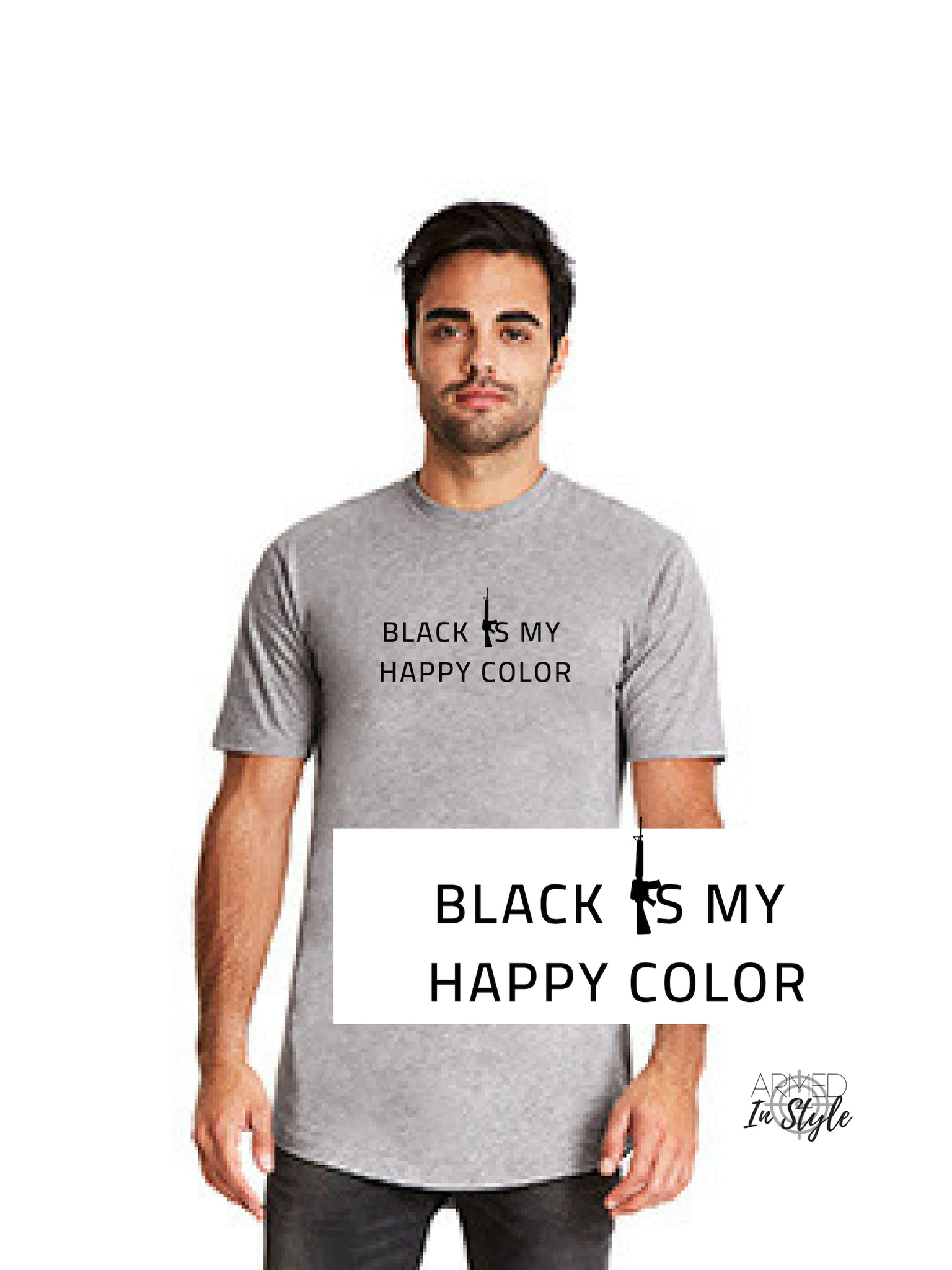 Black Is My Happy Color, Men's Urban T-Shirt