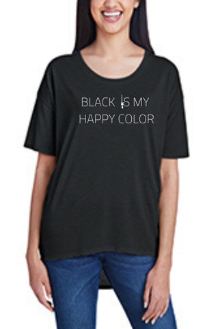 Black Is My Happy Color, Women's Hi-Lo Freedom Shirt