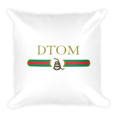 Don't Tread On Me Mock Gucci Dry Fire Pillow Case