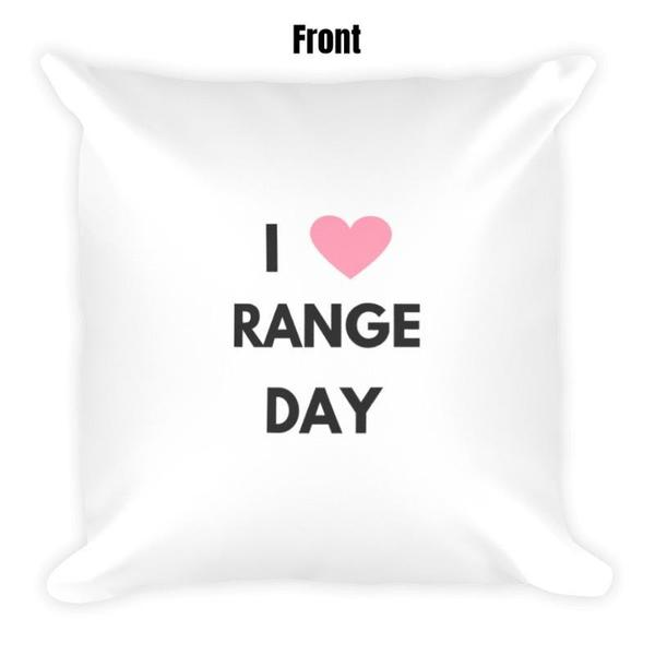 I Heart Range Day Dry Fire Pillow Case