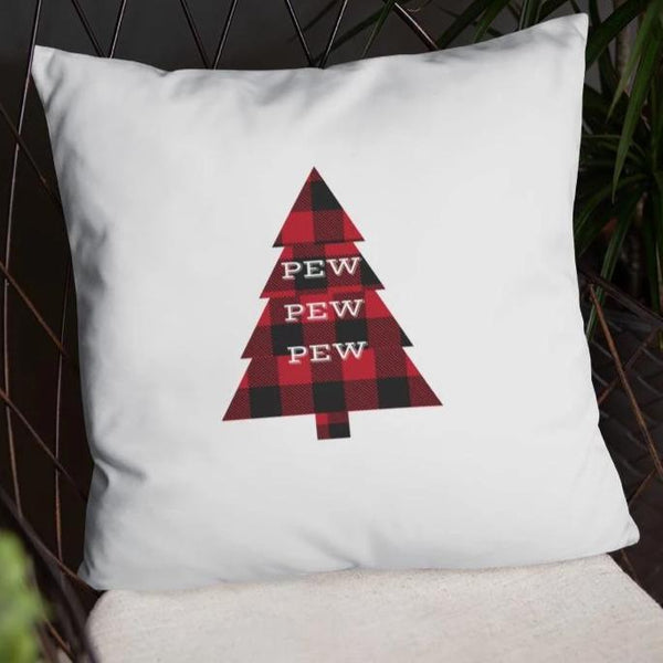 Pew Pew Pew Flannel Dry Fire Pillow