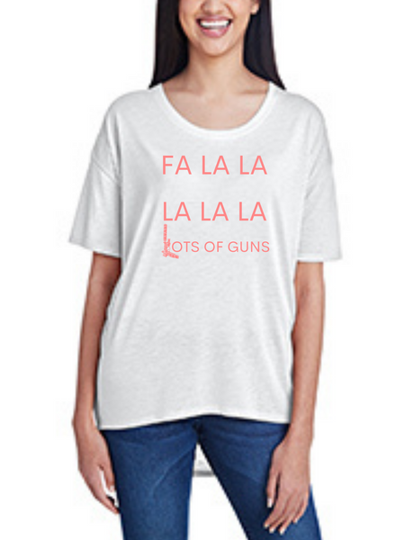 Fa La La La La La Lots of G*NS, Women's Hi-Lo Freedom Shirt