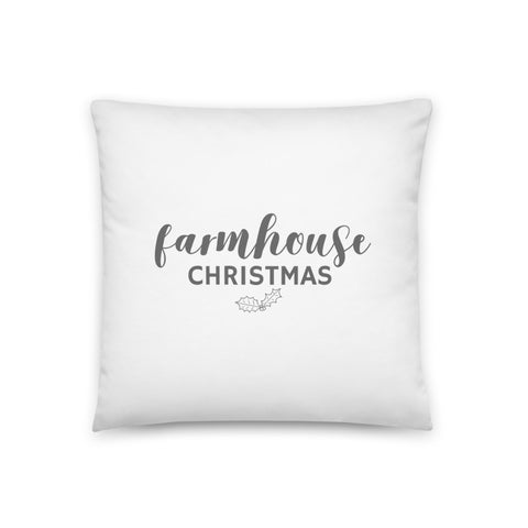 Farmhouse Christmas Dry Fire Pillow Case