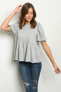 Secret Weapon Flowy Peplum Top
