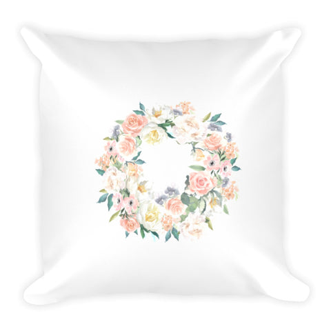 Spring Wreath Dry Fire Pillow Case