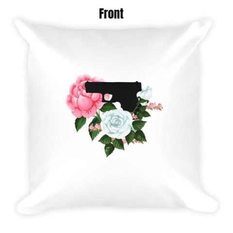 Pistol and Petals Dry Fire Pillow Case