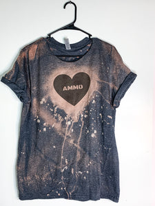 Ammo Love Bleach Dyed T-Shirt