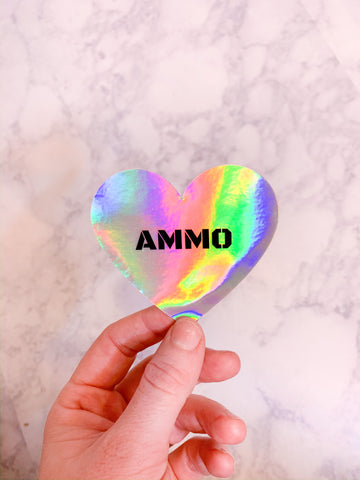 Holographic Ammo Love Sticker