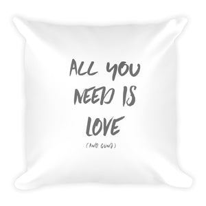 All You Need Is Love (and guns) Dry Fire Pillow, Dot Drill Target