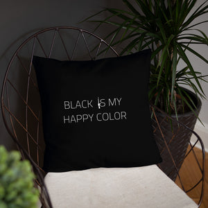 Black Is My Happy Color Dry Fire Pillow, USPSA Style Target