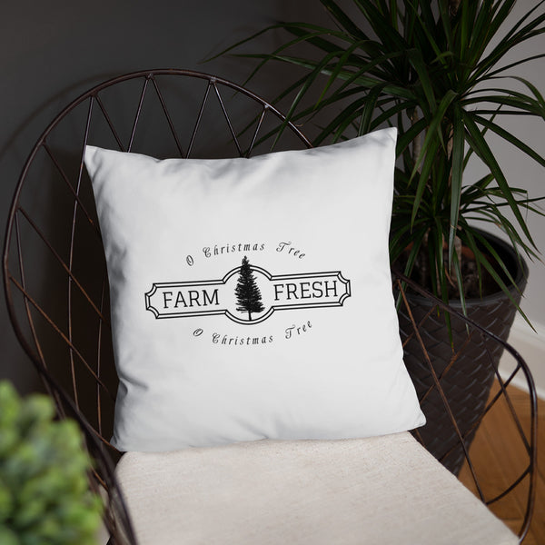 O Christmas Tree Farmhouse Dry Fire Pillow, Black Silhouette Target