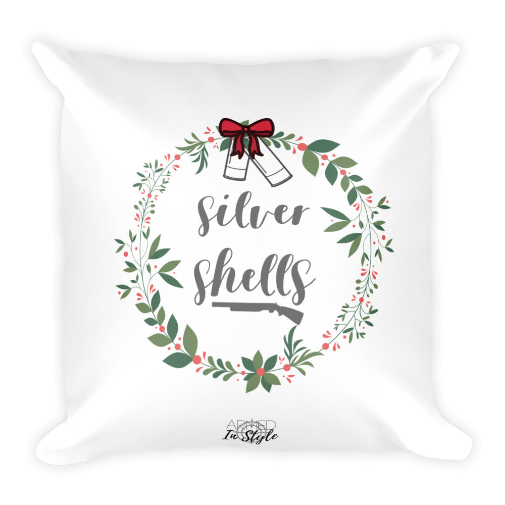 Silver Shells Dry Fire Pillow, Black Silhouette Target