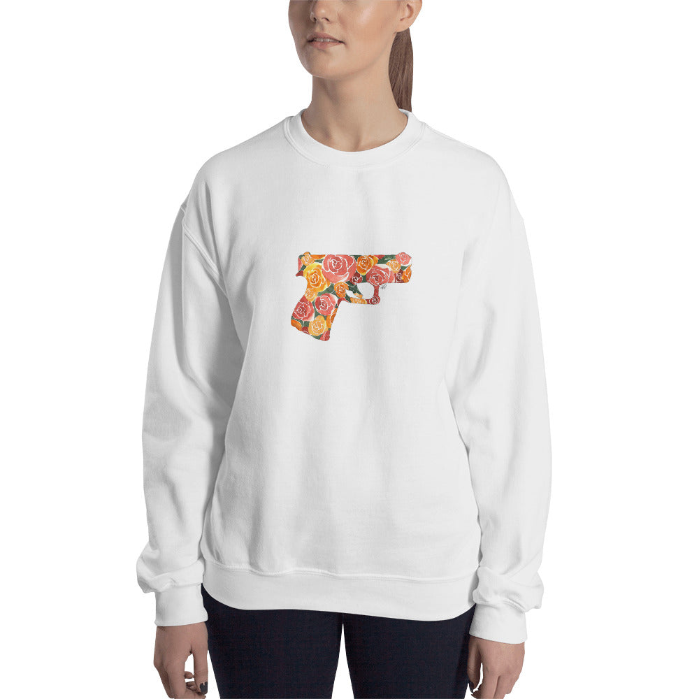 Glock and Roses by Felicha Dugan Sweatshirt