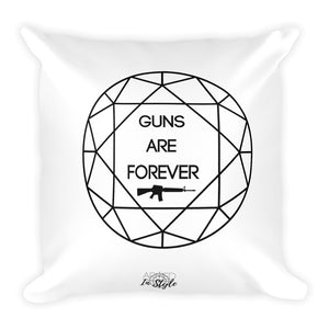 Guns are Forever in Black Dry Fire Pillow, IDPA Style Target