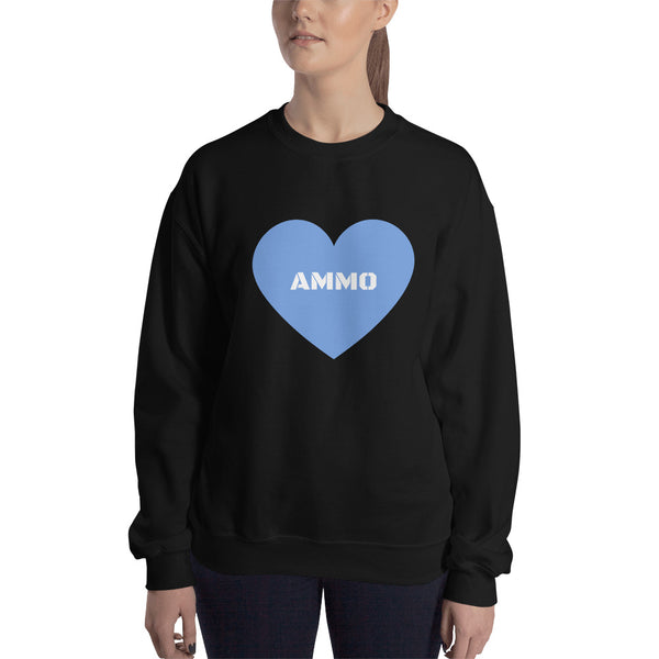Ammo Love in Blue Sweatshirt