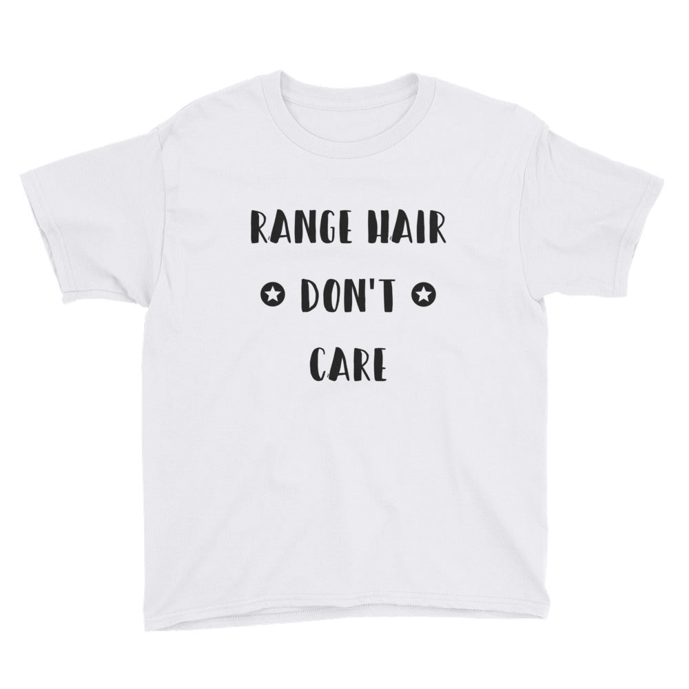 Range Hair Don't Care, Youth Short Sleeve T-Shirt