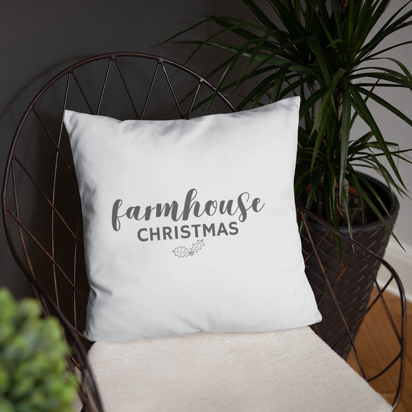 Farmhouse Christmas Dry Fire Pillow, Black Silhouette Target