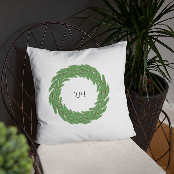 Joy Boxwood Wreath Dry Fire Pillow, IDPA Style Target