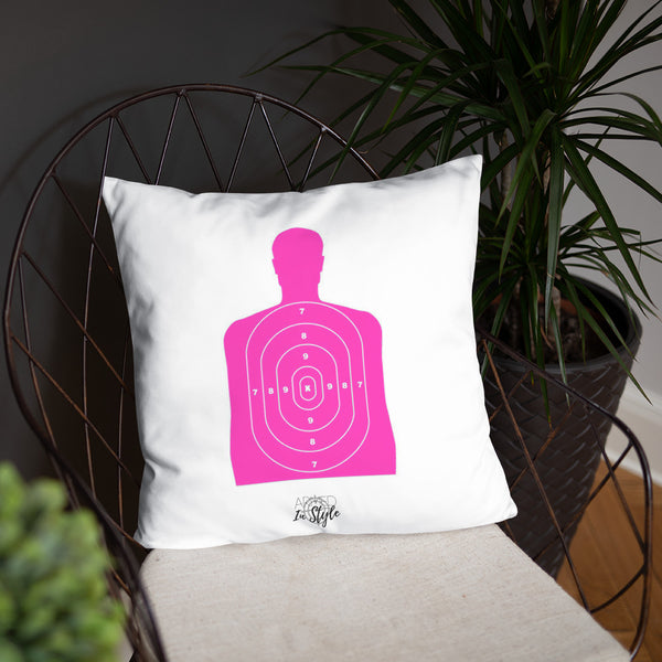 Black Is My Happy Color Dry Fire Pillow, Pink Silhouette Target