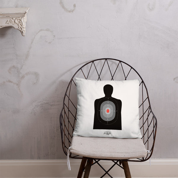 Black Floral Dry Fire Pillow, Black Silhouette Target