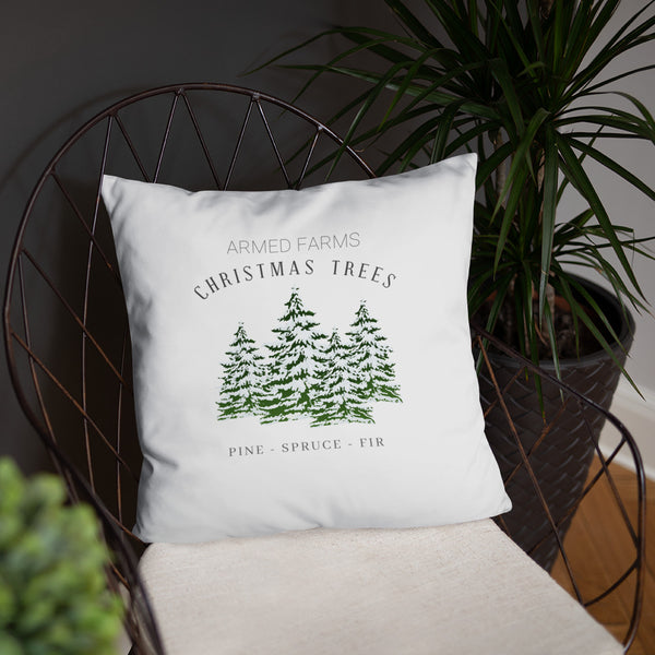 Armed Farms Christmas Trees Dry Fire Pillow, Dot Drill Style Target