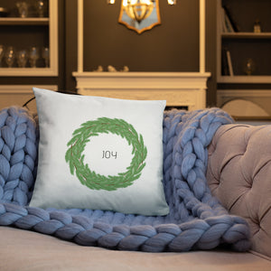 Joy Boxwood Wreath Dry Fire Pillow
