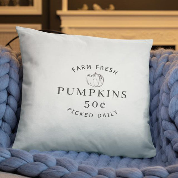 Farm Fresh Pumpkins Dry Fire Pillow Case