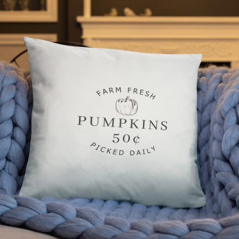 Farm Fresh Pumpkins Dry Fire Pillow