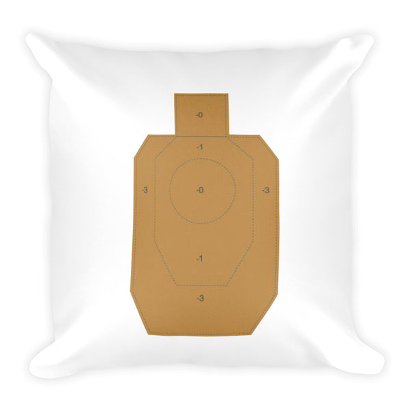 Pistol and Petals Dry Fire Pillow, IDPA Style Target