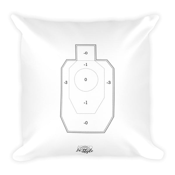 Coffee-a-holic, IDPA Style Target Dry Fire Pillow